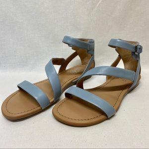 Franco Sarto - Baby Blue Leather Gladiator Sandals